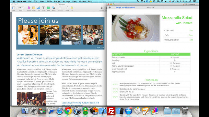 Package for iWork for Mac - review, screenshots