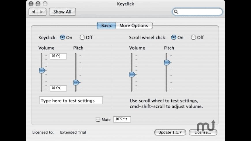 Keyclick for Mac - review, screenshots