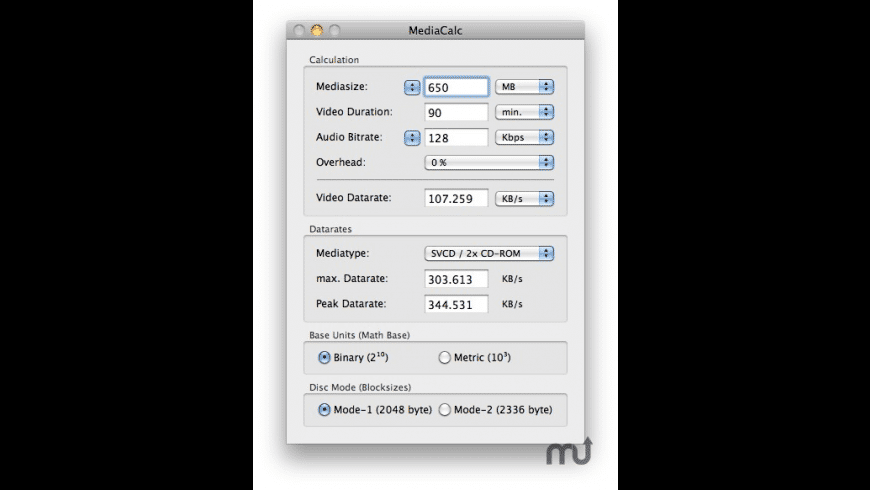 MediaCalc for Mac - review, screenshots