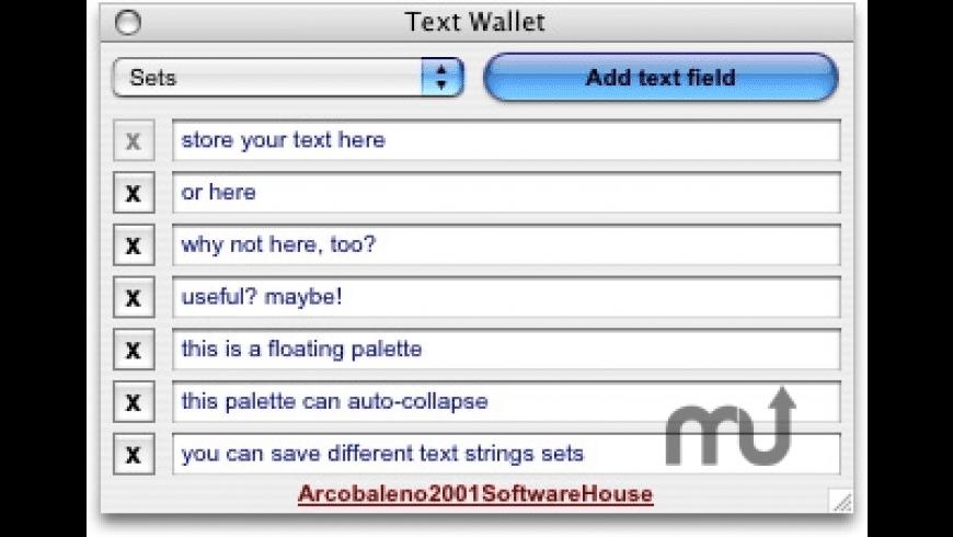 Text Wallet for Mac - review, screenshots