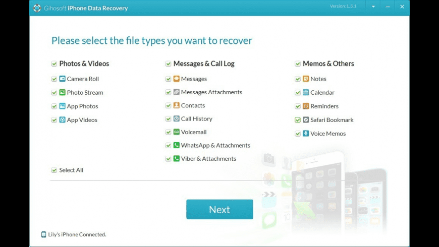 Gihosoft iPhone Data Recovery for Mac - review, screenshots