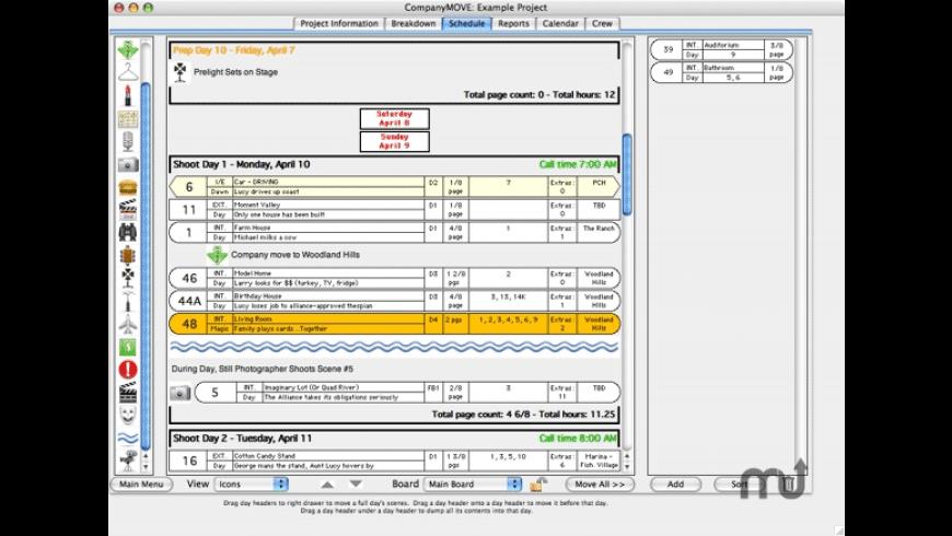 CompanyMOVE ShowPlanner for Mac - review, screenshots
