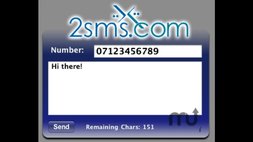 2sms.com Widget for Mac - review, screenshots