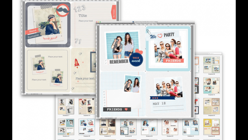 Photo Album Templates for Photoshop for Mac - review, screenshots