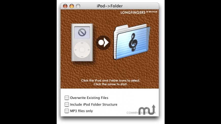 iPod->Folder for Mac - review, screenshots