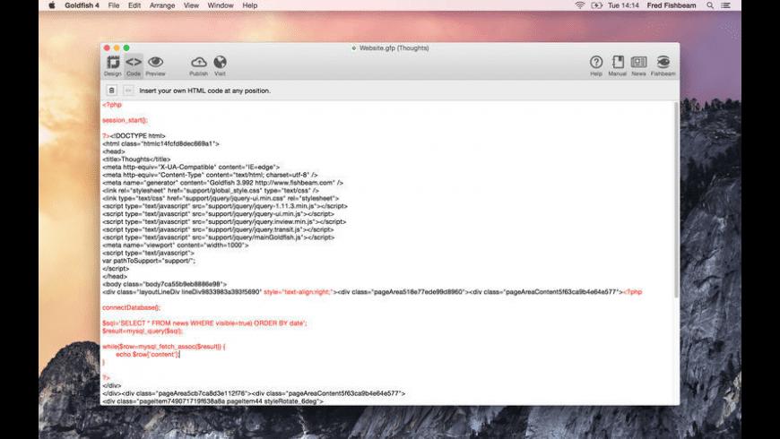 Goldfish Standard for Mac - review, screenshots