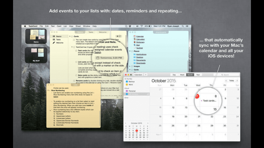 TaskCard for Mac - review, screenshots