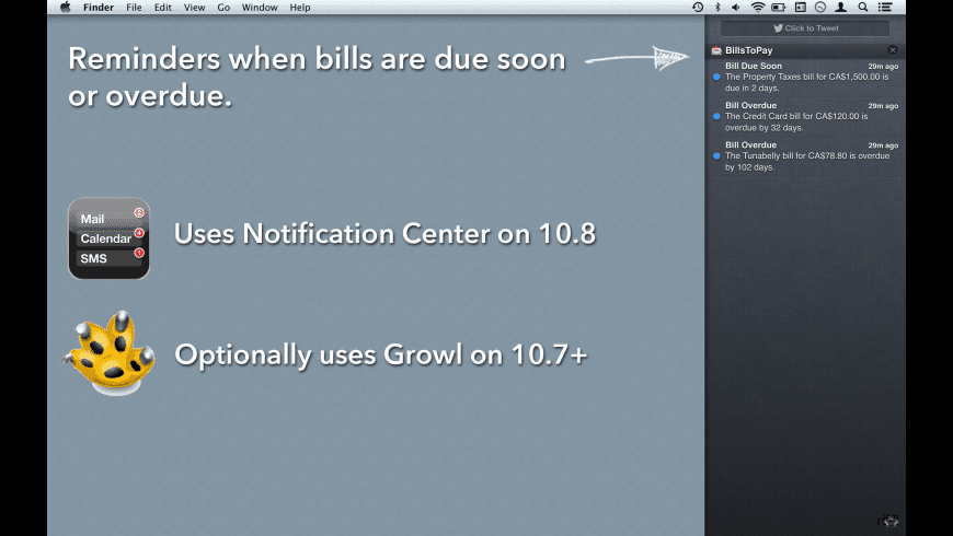 Bills To Pay for Mac - review, screenshots