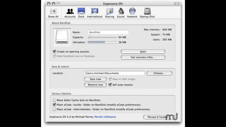 Esperance DV for Mac - review, screenshots