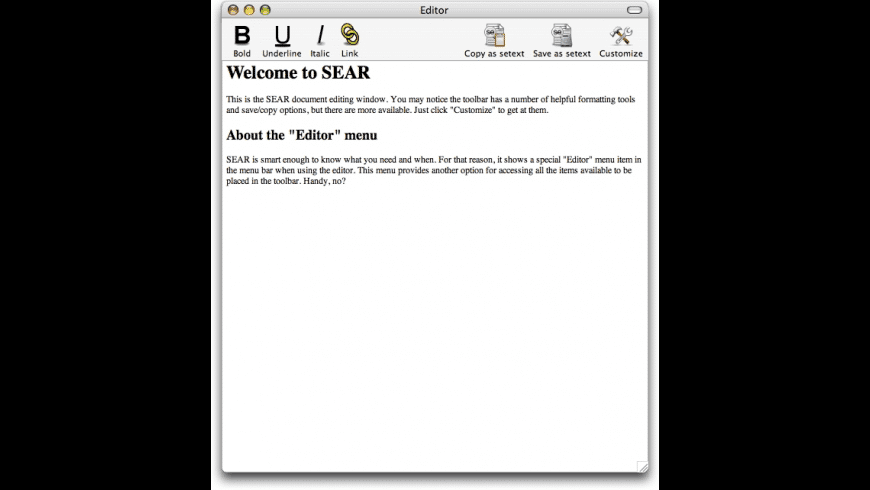 SEAR for Mac - review, screenshots
