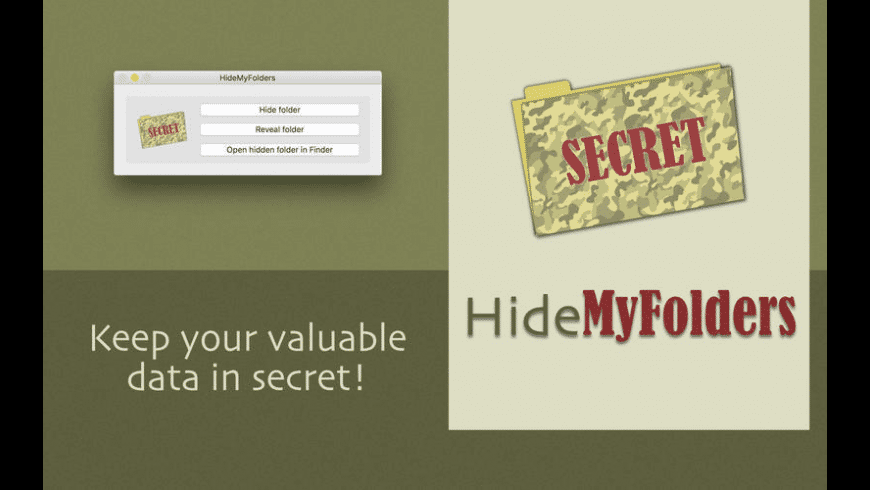 HideMyFolders for Mac - review, screenshots
