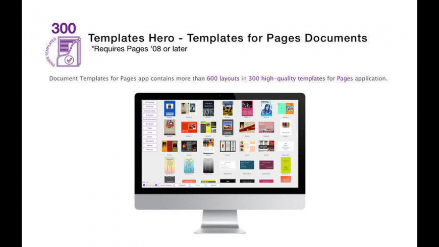 Templates for Pages Documents for Mac - review, screenshots