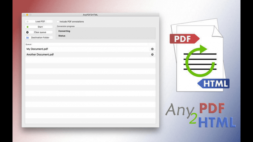 AnyPDF2HTML for Mac - review, screenshots