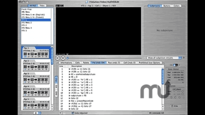 myDVDEdit for Mac - review, screenshots