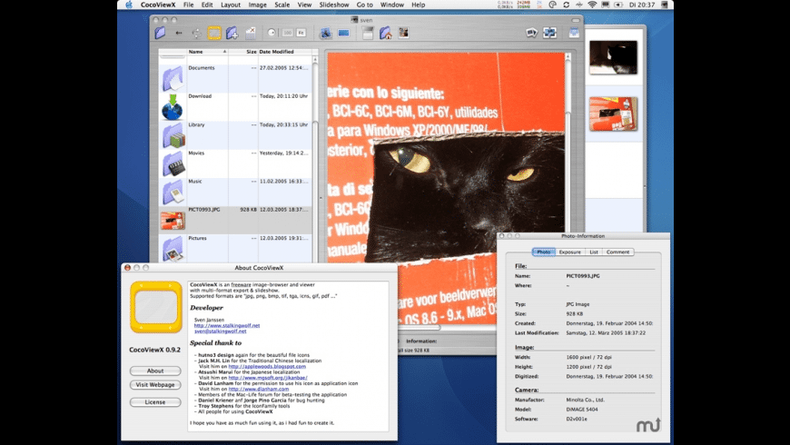 CocoViewX for Mac - review, screenshots