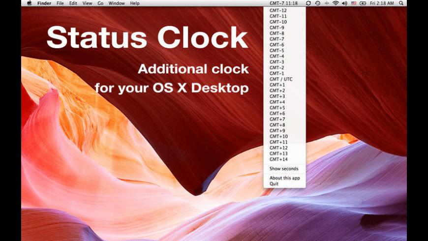 Status Clock for Mac - review, screenshots
