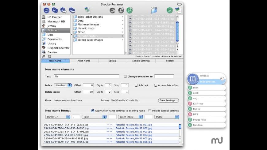 Skooby Renamer for Mac - review, screenshots