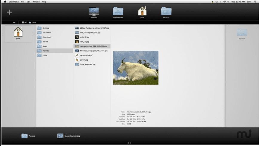 ClawMenu for Mac - review, screenshots