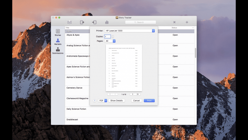 Story Tracker for Mac - review, screenshots