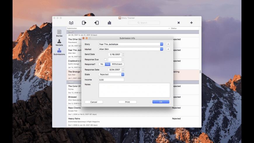 Story Tracker for Mac - review, screenshots