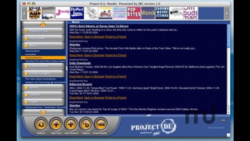 Project D.U. Reader for Mac - review, screenshots