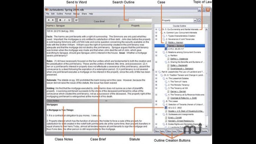 Juristudents for Mac - review, screenshots