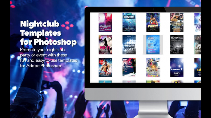 Nightclub Templates for Photoshop for Mac - review, screenshots