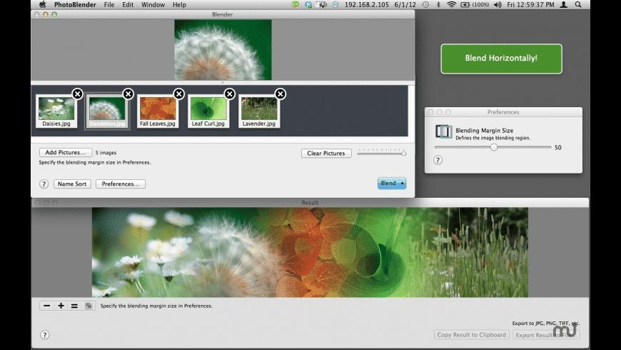 PhotosBlender for Mac - review, screenshots