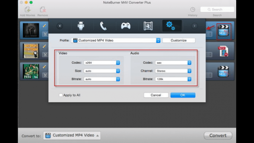 NoteBurner M4V Converter Plus for Mac - review, screenshots