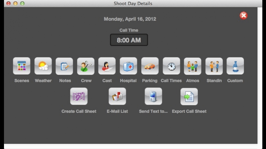 Koala Call Sheets for Mac - review, screenshots
