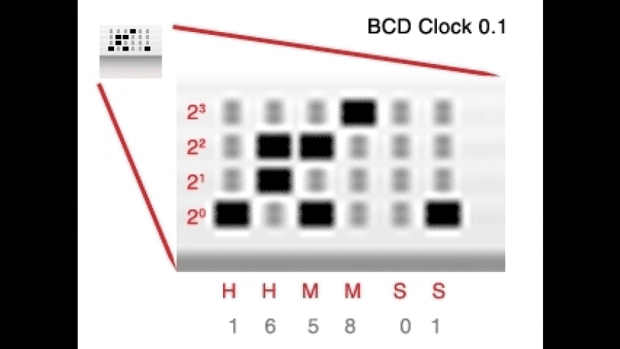BCDClock for Mac - review, screenshots