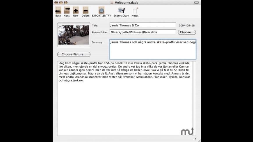 Web Diary for Mac - review, screenshots