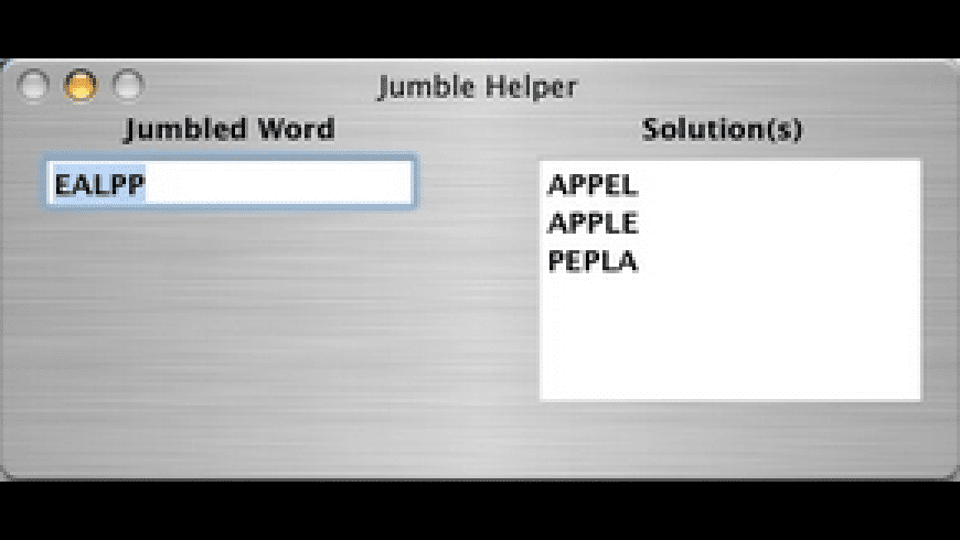 Jumble Helper for Mac - review, screenshots