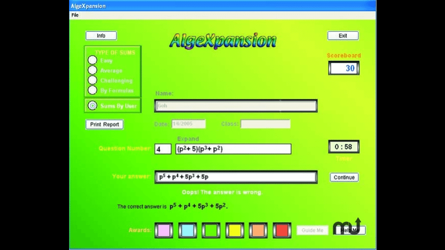 AlgeXpansion for Mac - review, screenshots