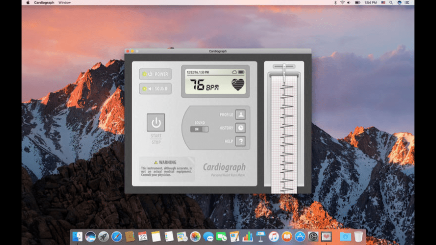 Cardiograph for Mac - review, screenshots