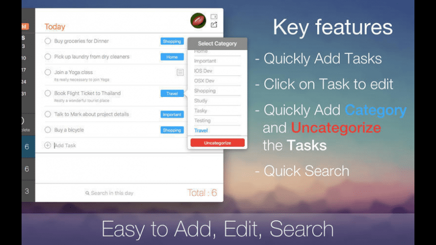 Tasky for Mac - review, screenshots
