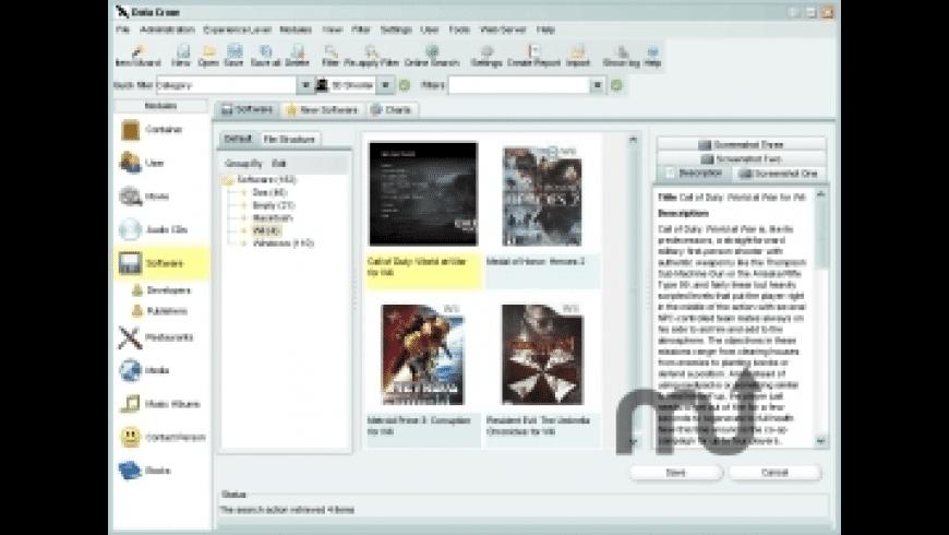 DataCrow for Mac - review, screenshots