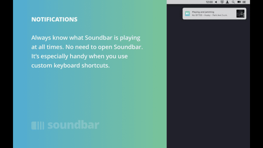 Soundbar for Mac - review, screenshots