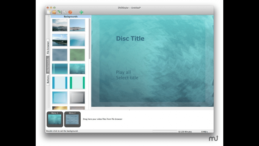 DVDStyler for Mac - review, screenshots
