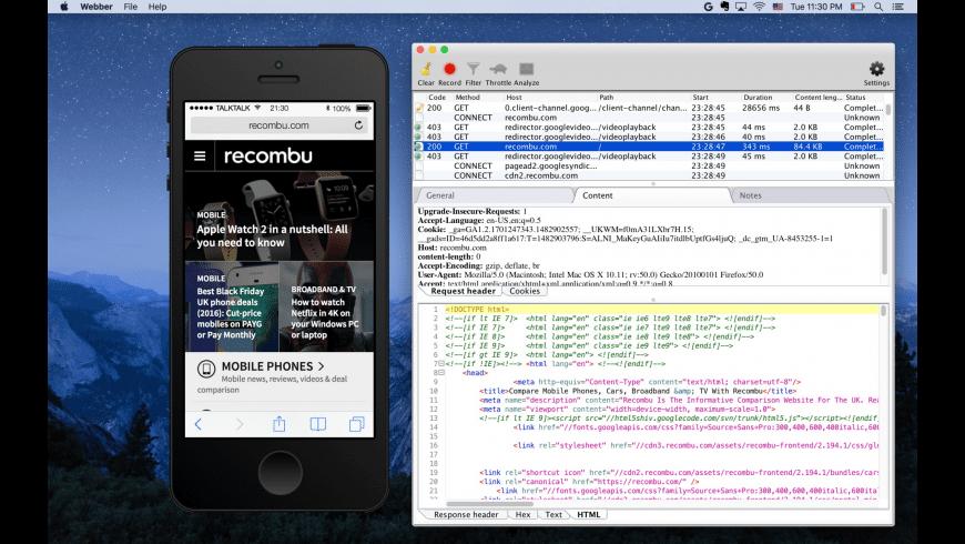 Webber for Mac - review, screenshots
