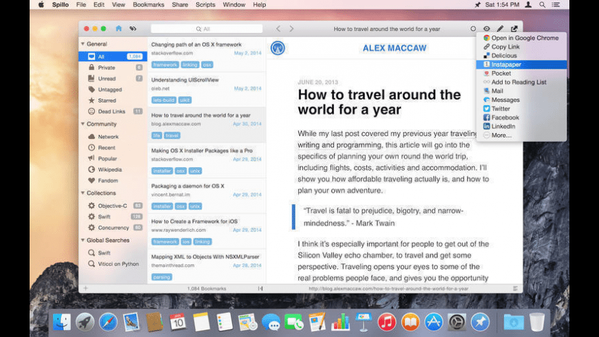 Spillo for Mac - review, screenshots
