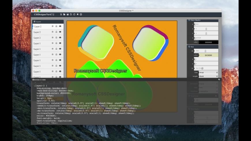 CSSDesigner for Mac - review, screenshots