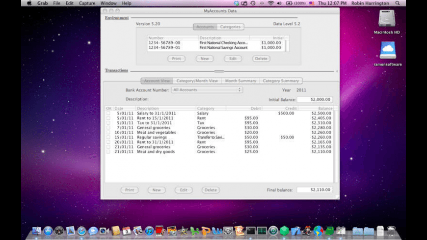 MyAccounts for Mac - review, screenshots
