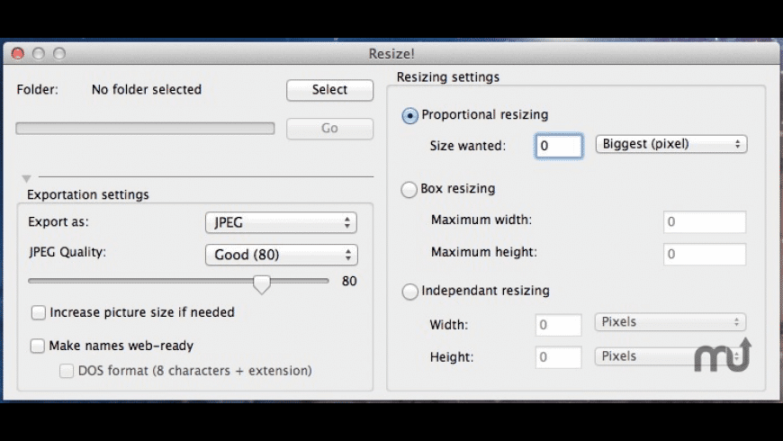 Resize! for Mac - review, screenshots