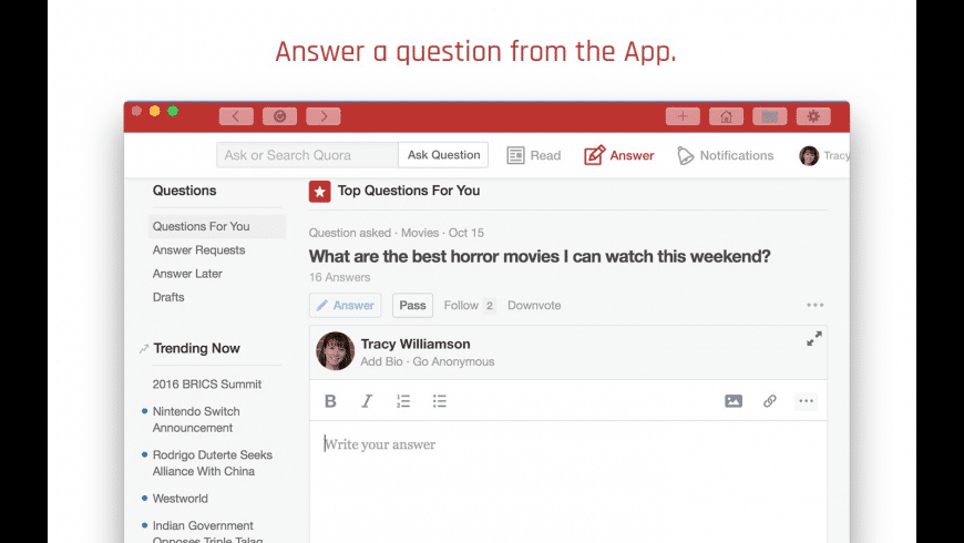 DesktopReader for Quora for Mac - review, screenshots