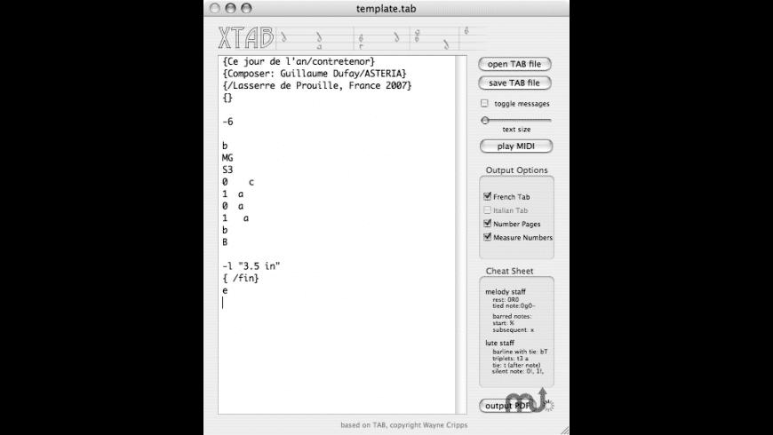 xTab for Mac - review, screenshots