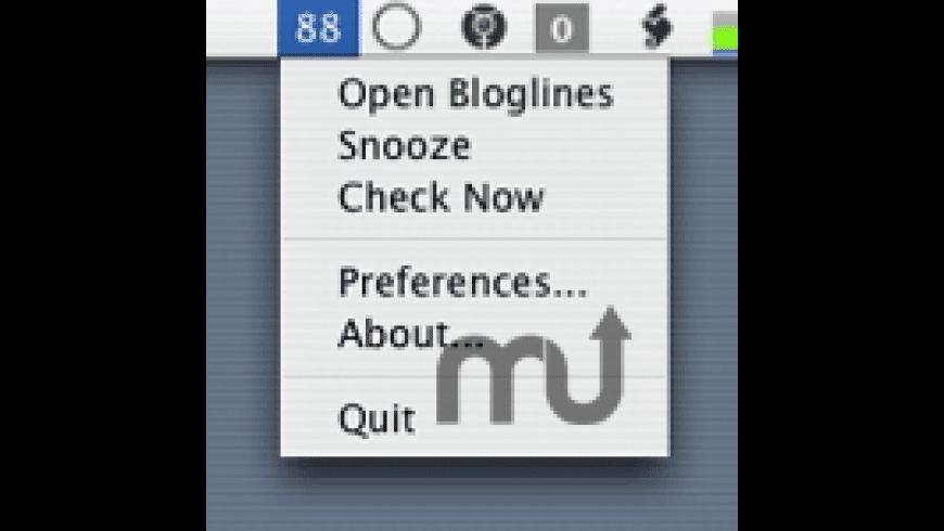 BloglinesMenu for Mac - review, screenshots