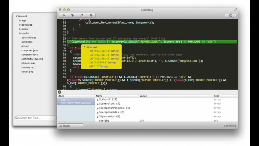 Codebug for Mac - review, screenshots