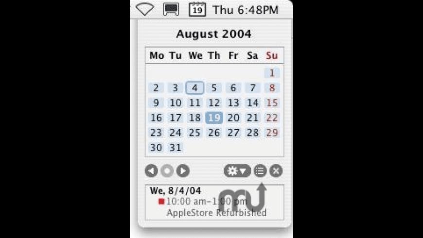 MenuCalendarClock for Entourage for Mac - review, screenshots