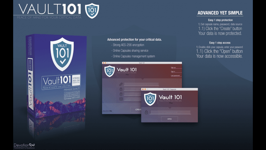 Vault 101 for Mac - review, screenshots